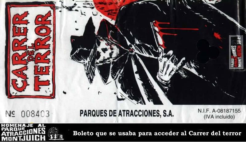 Entrada Carrer del Terror del Parque de Atracciones de Montjuic