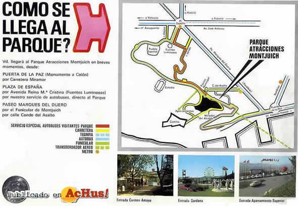 Como se llega al parque de atracciones de Montjuic en Barcelona.