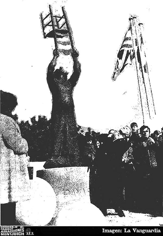 Inauguración del monumento a Charlie Rivel en el parque de Atracciones de Montjuich