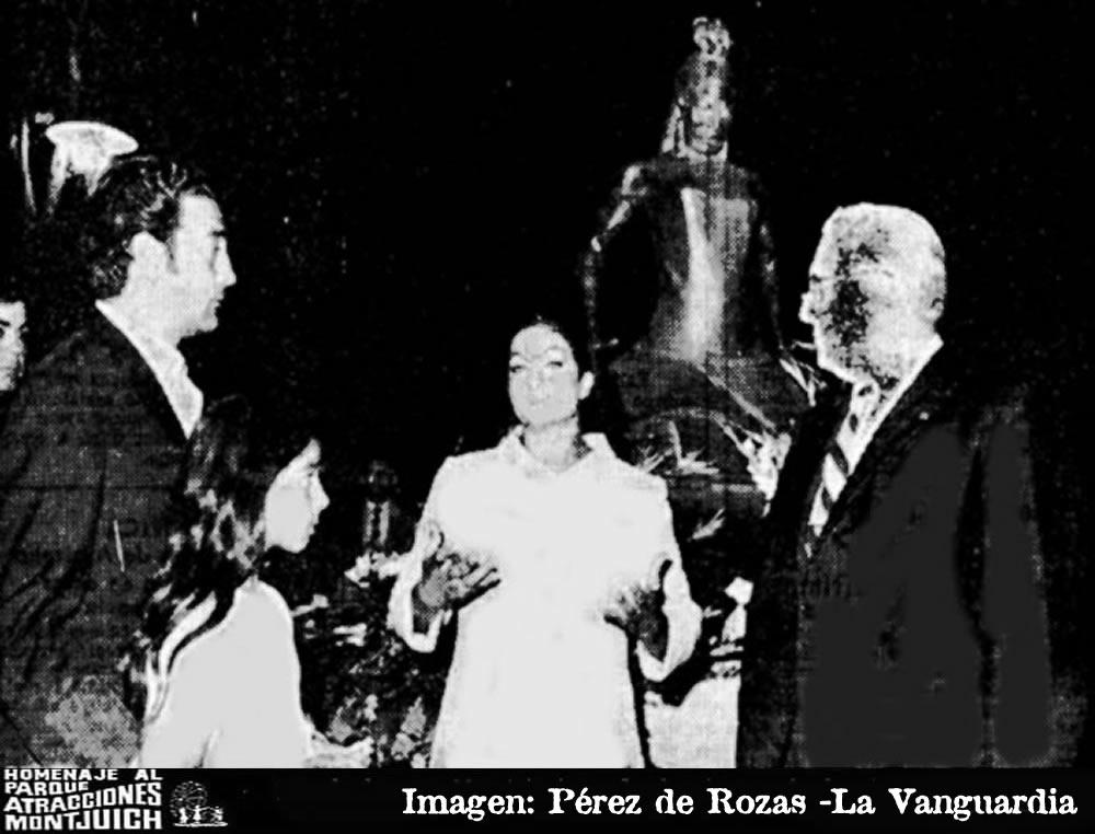 Lola Flores rindió homenaje a Carmen Amaya
