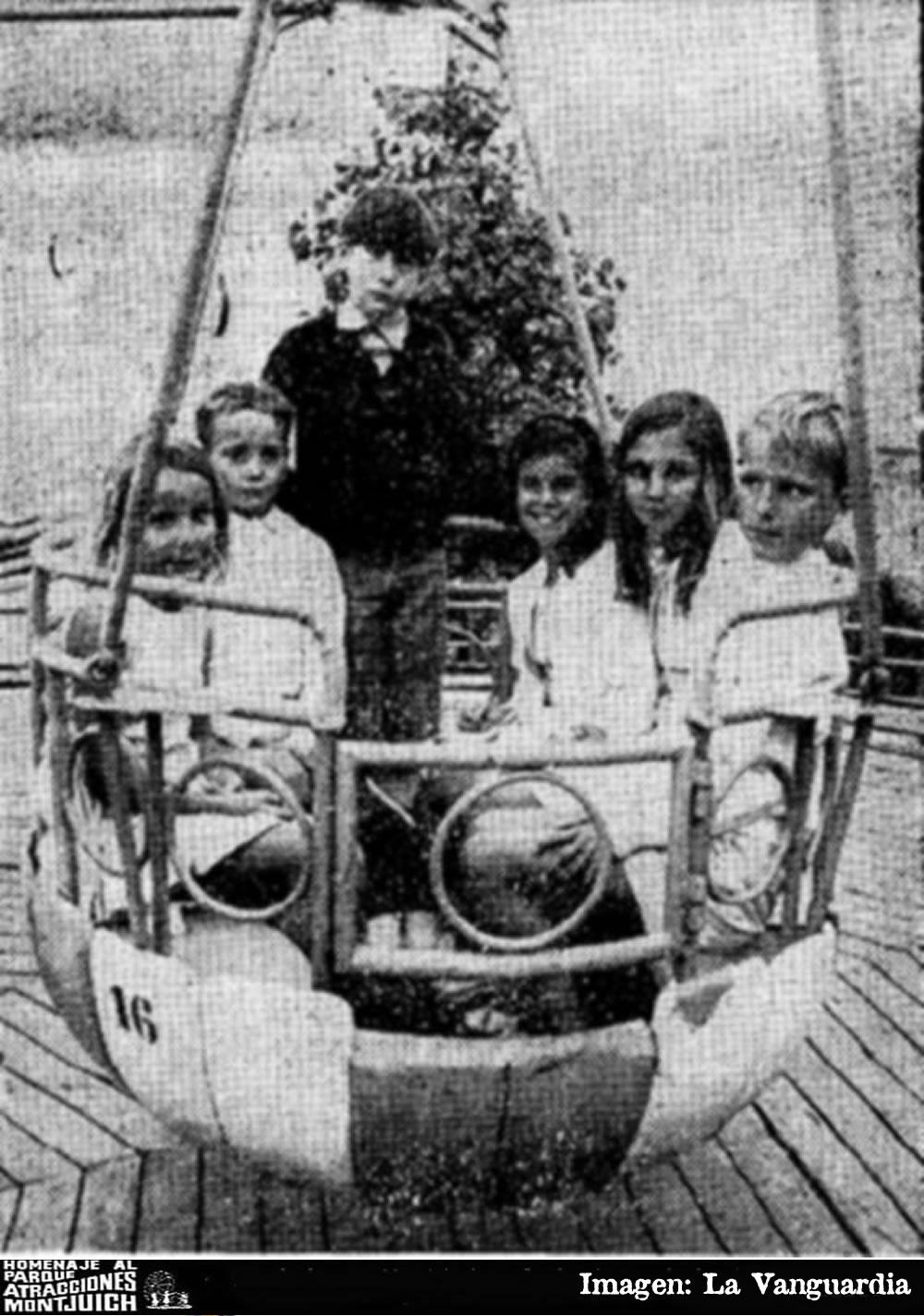 Los nietos del Caudillo en el Parque de Atracciones de Montjuich