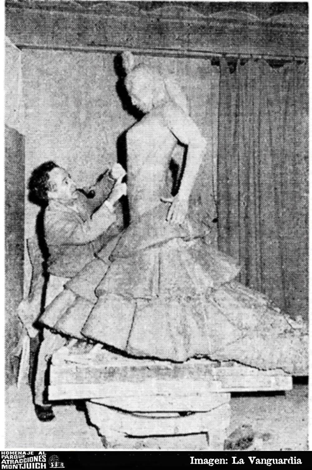 Una estatua de Carmen Amaya en Montjuich