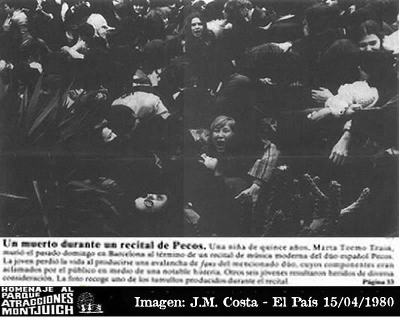 Una joven, muerta en un recital de Pecos en Barcelona