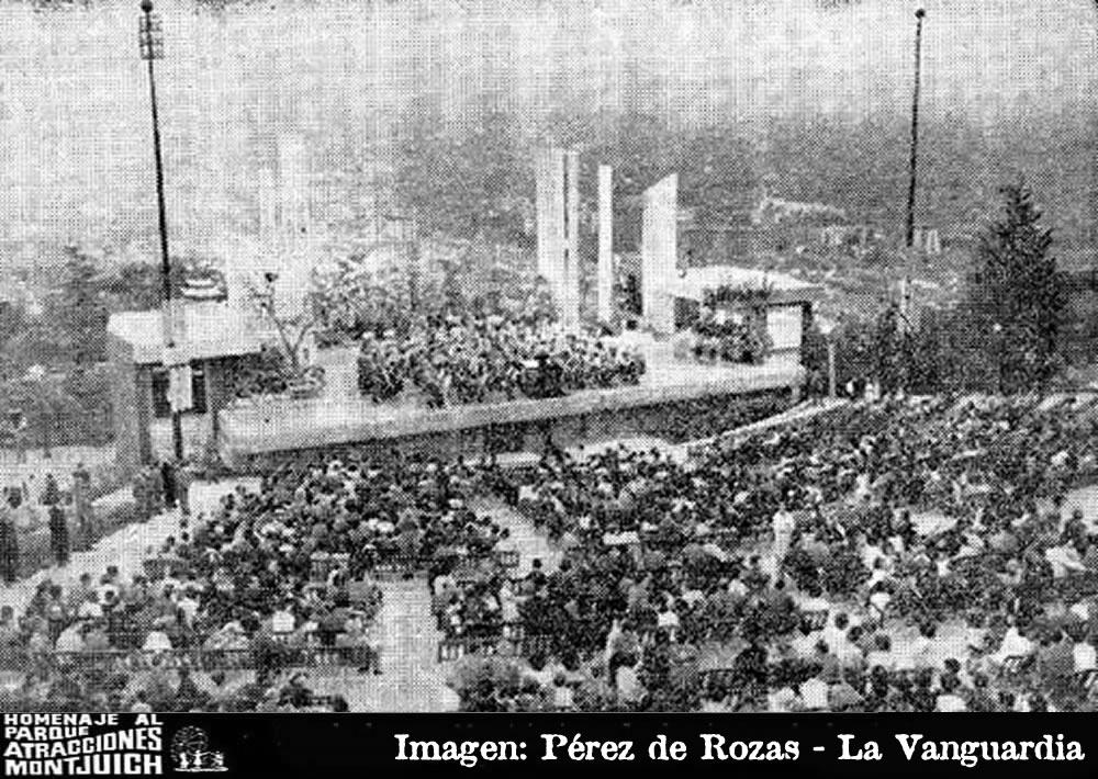 Franco inauguro ayer el Parque de Atracciones de Montjuich