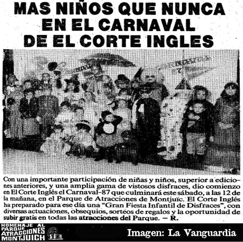 Más niños que nunca en el carnaval de El Corte Ingles 1987