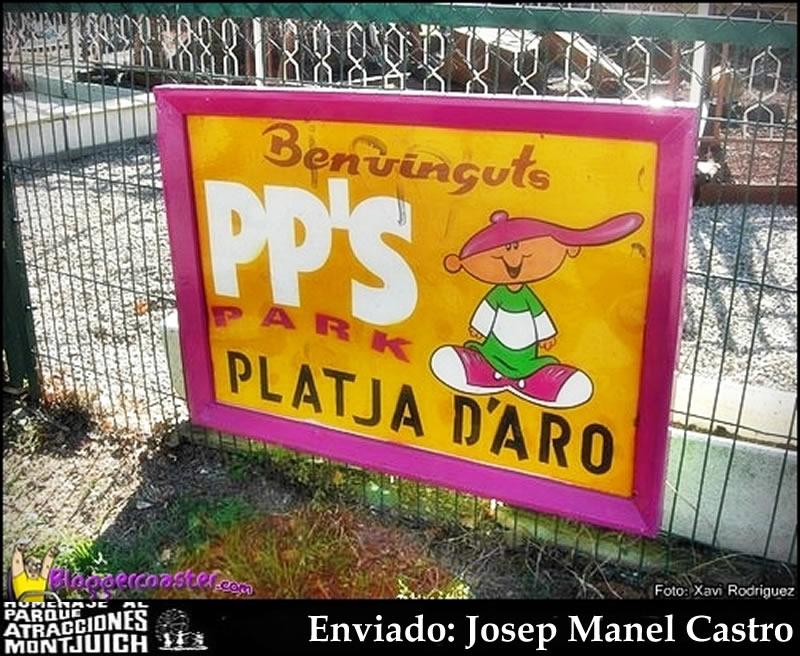 Cartel de  bienvenida PP'S Park Platja D'Aro