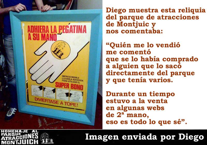 Super Bono, tickets y carteles del parque de atracciones Montjuic