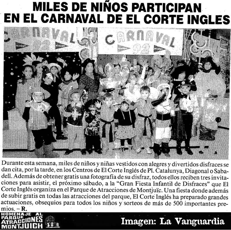 Carnaval 1992 en el Parque de Atracciones de Montjuïc