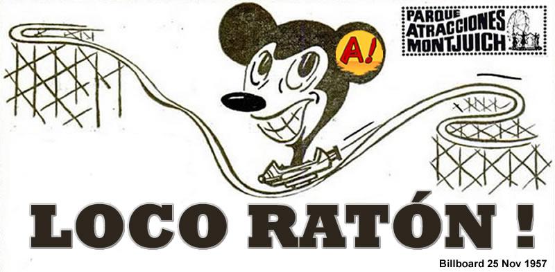 Loco Ratón del parque de atracciones de Montjuic (1966-1972)