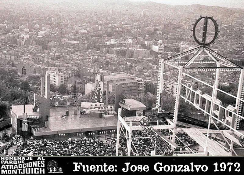 Loco Ratón con el teatro del parque de atracciones de Montjuic (1966-1972)