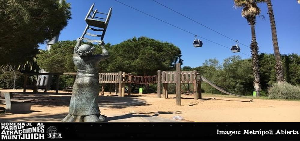 Estatua del payaso en Montjuic