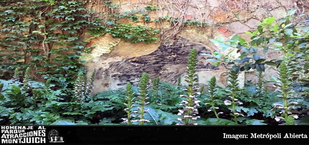 El muro del Tren Fantasma del parque de atracciones de Montjuïc