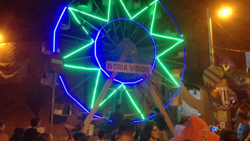 Noriavisión en el Homenaje al Parque de Atracciones de Montjuic del Carrer Papin