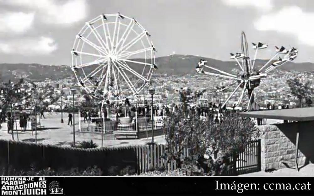 La Noria del Parque de atraccioen de Montjuic 1966-1973