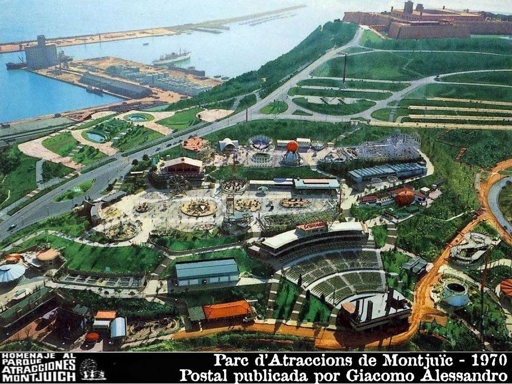 Vista aérea del Parque de atracciones de Montjuich