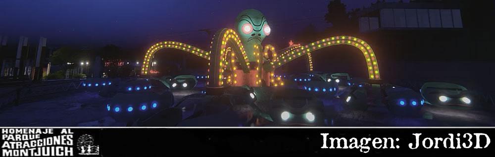 Animación Parque de Atracciones de Montjuic en 3D
