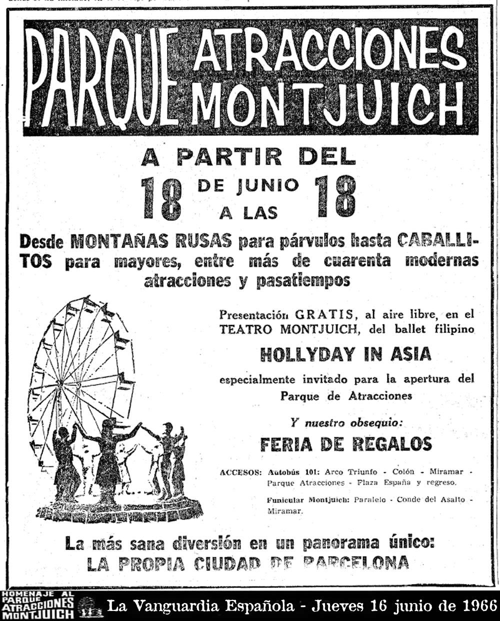Cartel de La Vanguardia Española - Jueves 16 junio de 1966