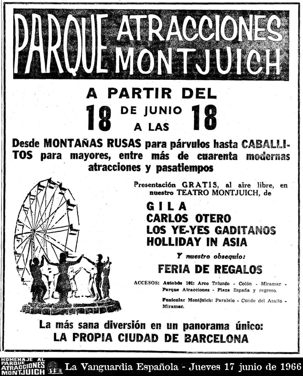 Cartel de La Vanguardia Española - Jueves 17 junio de 1966