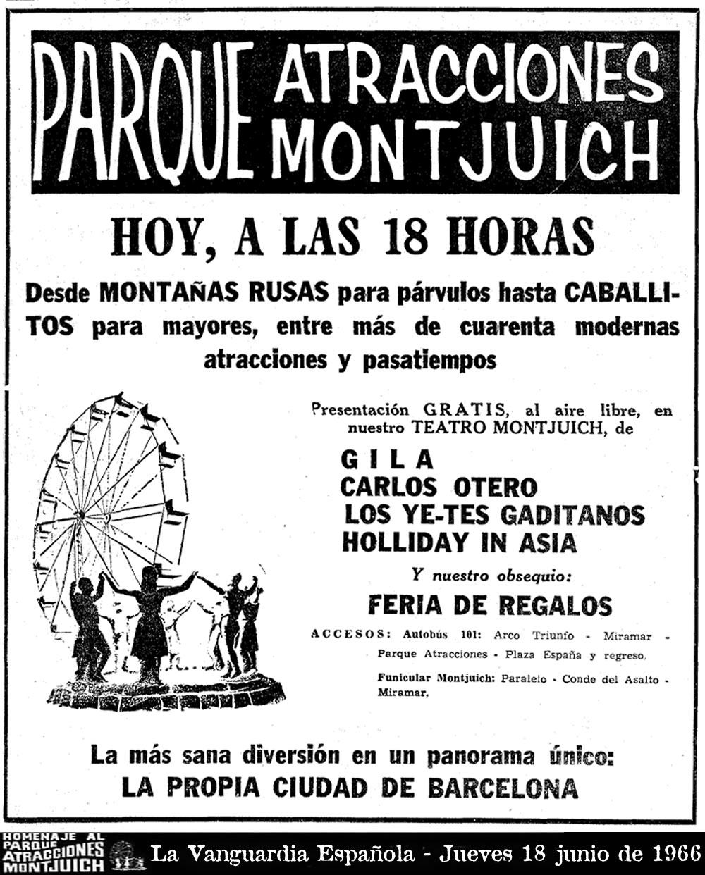 Cartel de La Vanguardia Española - Jueves 18 junio de 1966