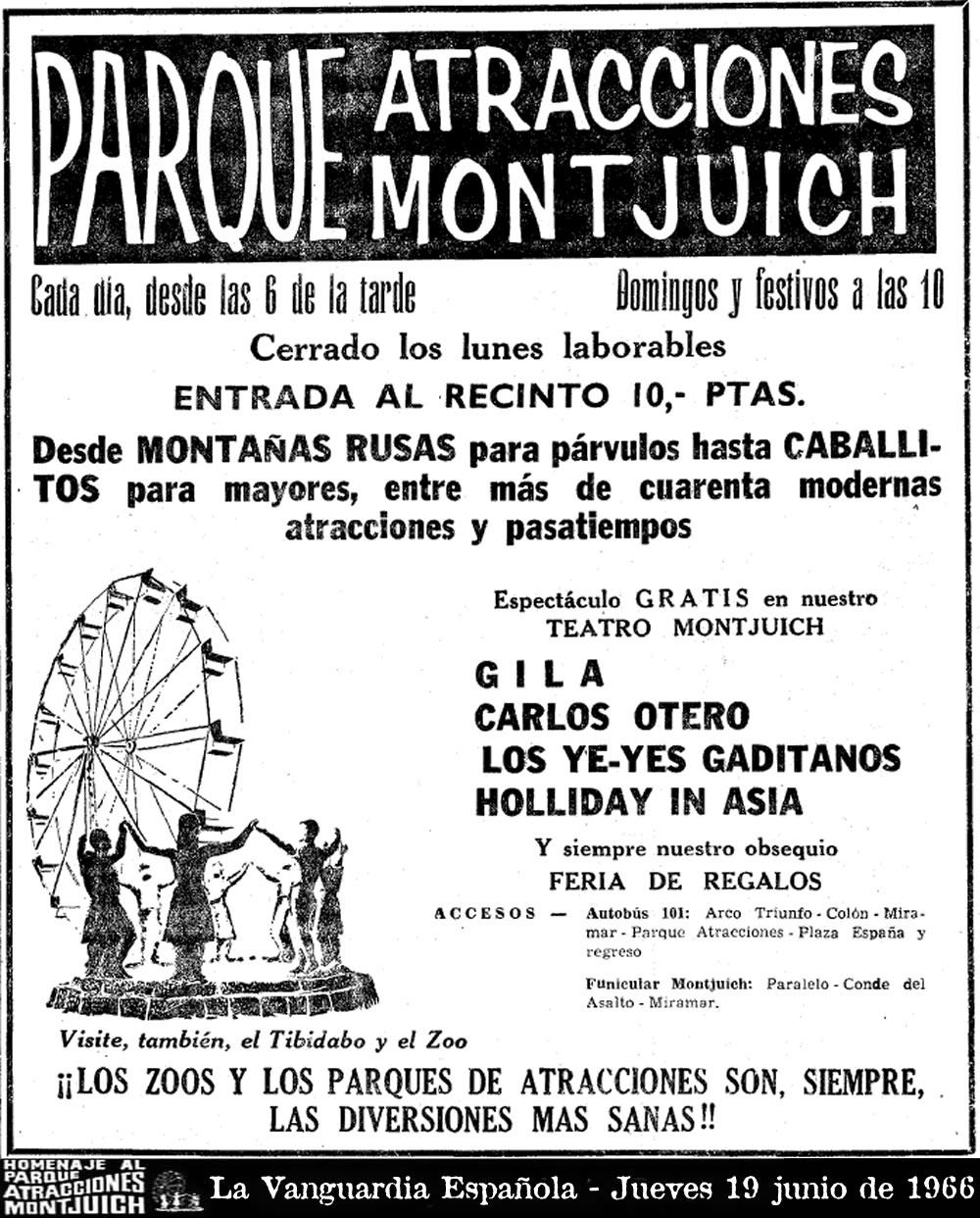 Cartel de La Vanguardia Española - Jueves 19 junio de 1966