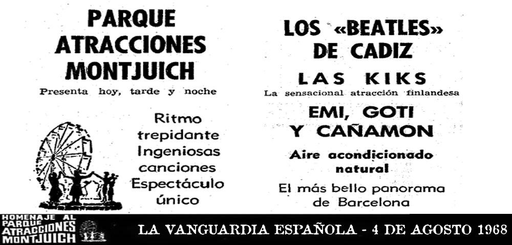 Los Beatles de Cádiz 4 de agosto 1968