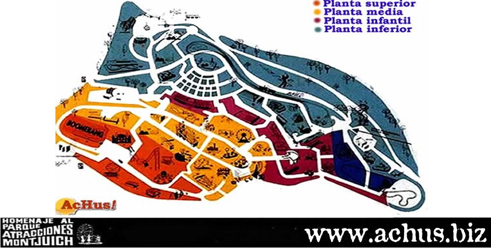 Mapa de las atracciones del parque
